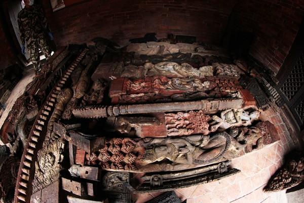 Stockage des pièces de temple, Durbar Square, Patan.